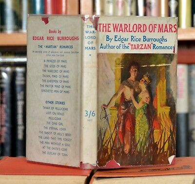 "Edgar Rice Burroughs ""The Warlord of Mars"" 1940s hb in original d/j"