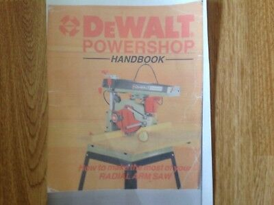 Dewalt Radial Arm Saw Manual Dw125 / Dw320 130 Pages  Paper Version !!!