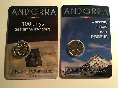2 x 2 EURO ANDORRE 2017 PAYS PYRENNES + 100 ANS HYMNE