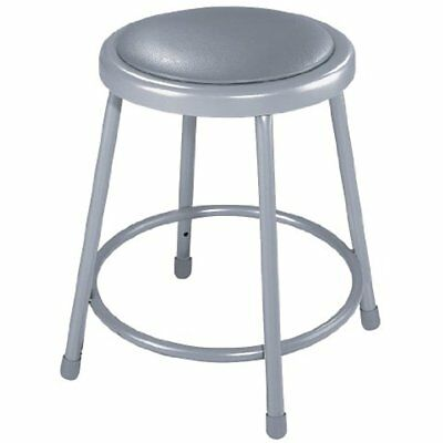 """6418-CN Steel Stool With 18"""" Vinyl Upholstered Seat, Grey (Pack Of 5)"""
