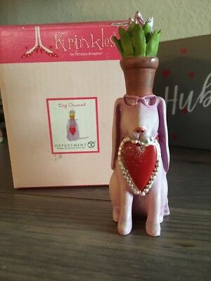 Krinkles Patience Brewster Valentine Dog Ornament