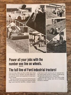 Vintage Ford Industrial Tractors Brochure Compact Loader Rotary Cutter Backhoe