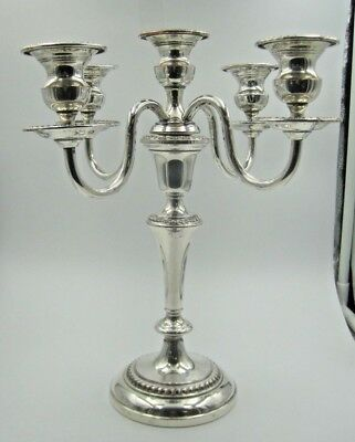 Vintage Art S Co S.P.C Silver Plated Candelabra Candle Holder,  #214