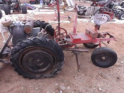 Antique Shaw Garden Tractor W / Implements