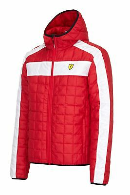 JACKET Scuderia Ferrari Mens Coat Padded Box Quilted Formula One F1 Red New!
