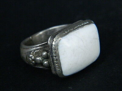 Antique Silver Ring With Stone Post Medieval 1800 AD    #STC398
