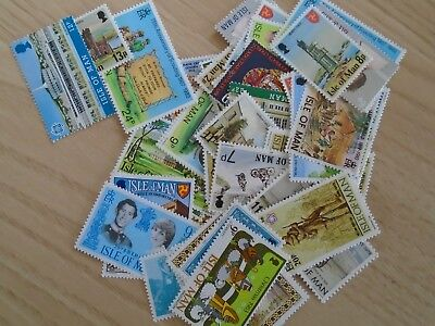 ISLE OF MAN STAMPS , Over 50 stamps Mostly Mint and High Value.