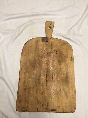 Early Primitive Large Rectangular Bread Board ~ Old Wood & Tin Repairs~ PR415