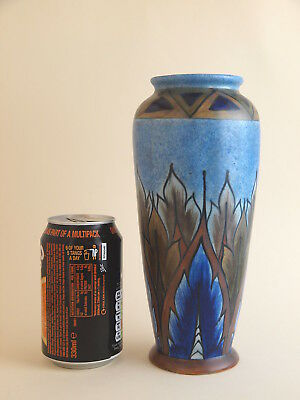 Vintage George Clews Hand Painted Chameleon Ware Blue Flame Vase