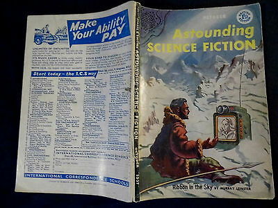 Vintage Astounding Science Fiction, October 1957 - journal sci-fi pulp magazine