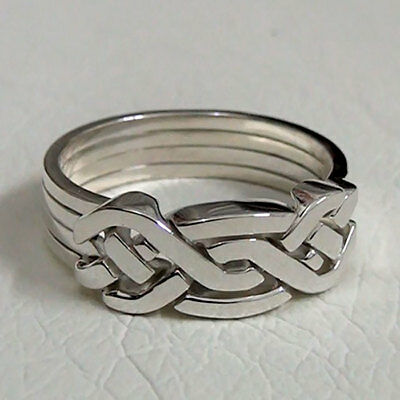 (HOLISTIC) Unique Puzzle Rings - Sterling Silver - Any Size