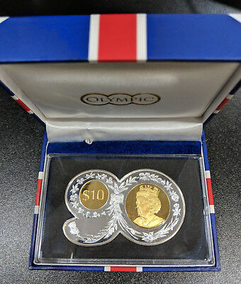 2016 British Virgin Islands 90 Birthday Shaped 2 oz Silver Gold plated $10 Coin