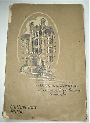Vintage 1923 Womans Institute of Domestic Arts College Book...Patterns Sewing