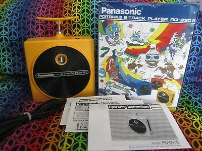 Panasonic 8 Track Player TNT RQ-830S  Yellow, Fully Serviced with warranty