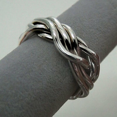 (SPAGHETTI) Unique Puzzle Rings - Sterling Silver - Any Size