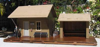 G Scale Model Railway Plans: 3 Flag Stop Stations