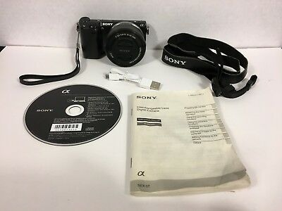 Sony Nex-5Tl Digital Camera Power Zoom Lens Kit  - For Most Parts / Not Working