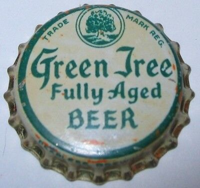 Green Tree Beer Bottle Cap 1936-38; Washington, Mo; Peerless Brewng; Unused Cork