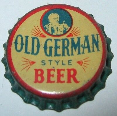 Old German Beer Bottle Cap; 1934-39; Cleveland, Oh; Sunrise Brewng; Unused Cork
