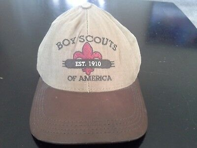 Boy Scouts of America Limited Edition 1999 Adjustable Cap Hat Leather Brim