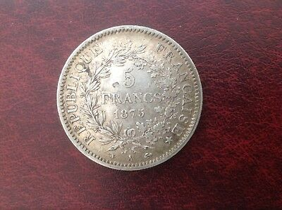 France 1875, 5 Francs Silver Coin
