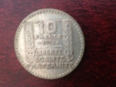1933 France, 10 Francs Silver Coin