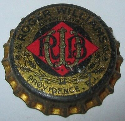 Roger Williams Beer Bottle Cap; 1947-49; Providence, Ri; Unused Cork