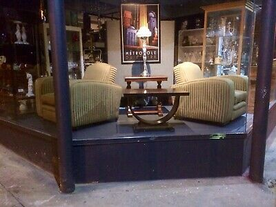 Pair Of Art Deco 1930's Club Chairs