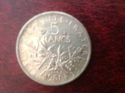 1961 France, 5 Francs Silver Coin