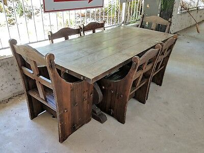 Antique Gothic /Church style Table and Chairs