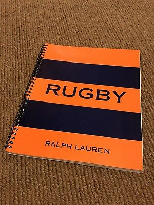 Polo Ralph Lauren Notebook, Journal, RUGBY Stripe, Spiral Lined Book