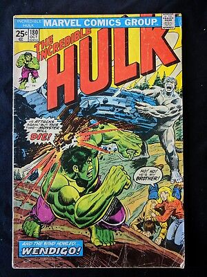 The Incredible Hulk #180 Oct 1974 1st Appearance of WOLVERINE Marvel Comics VG