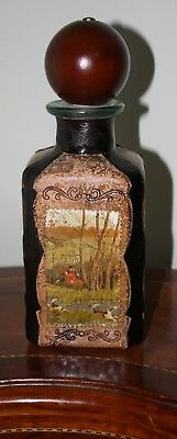 Leather Covered Decanter Made in Italy