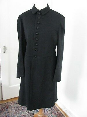 Antique Victorian Mens Frock Coat Jacket Formal Black Military Society Goods Old