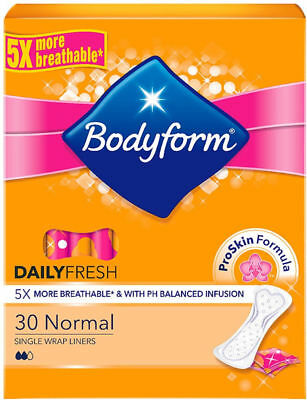2X Bodyform Liners Normal CurveFit Single Wrapped Liners (30)