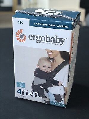 Ergobaby 360 4 Carry Positions Ergonomic Cool Air Mesh Baby Carrier, Carbon Grey