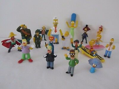 18 x THE SIMPSONS Collectable Figures HUGE BULK SET TV Movie Character Lot