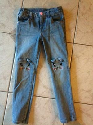 Girls' Size 5 skinny Jeans with Bunny Ears - Worn once!