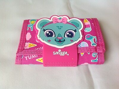 Smiggle Pink Kids Wallet Clare The Bear As New