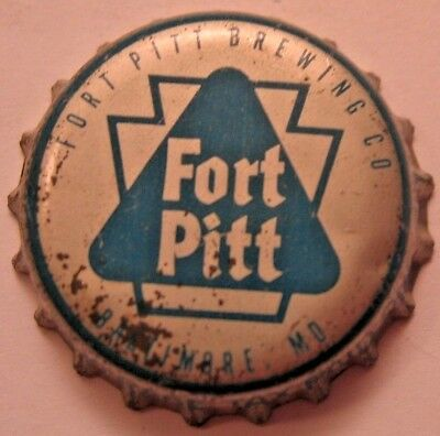 Fort Pitt Beer Bottle Cap; 1956-65; Pa Tax Keystone; Baltimore, Md; Used Cork