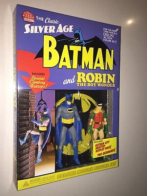 New Mint Vintage DC Direct Silver Age Batman And Robin Display Rare Never Opened