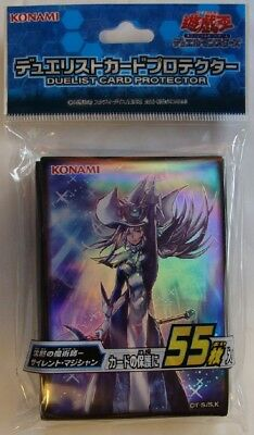Yugioh Konami Official Card Sleeves, Silent Magician Sleeves (55) Sealed
