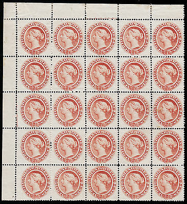 NFLD 1870 12c pale brown QV UL block, Scott 28, VF MNH/MH, catalogue - $6,840
