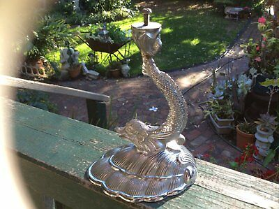 Chrome Deco Dolphin Cake Stand for Glass Plate ot Bowl