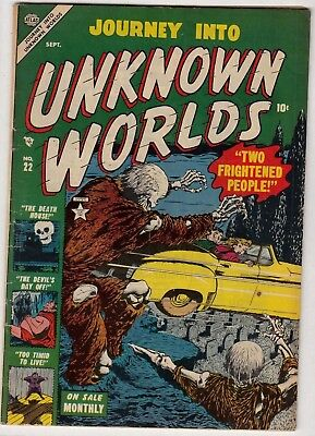 Journey into Unknown Worlds #22 (Atlas-1953) FN-/FN * Solid! Nice! -combine ship