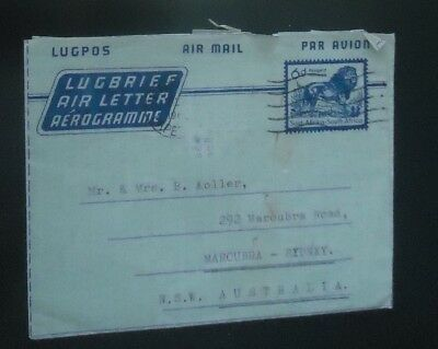 South  Africa 1960 Air Letter Aerogramme To Nsw Australia Complete Letter 3Scan