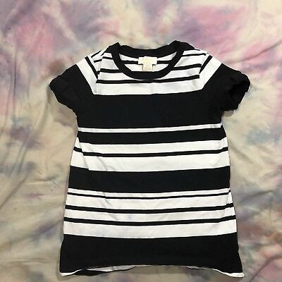 Kate Spade New York Skirt The Rules Girl Size 140/10Y Striped Short Sleeve Shirt