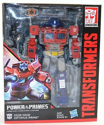 Transformers Optimus Prime Figure Power of the Primes Leader Class 2017 MISB