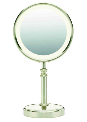 Conair BE116T Lighted Satin Nickel Makeup Mirror -new open box