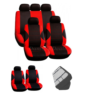 Red Carnaby Luxury Full Set Car Seat Covers For FIAT PUNTO EVO 2010/>